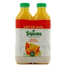 Tropicana Pur jus d'orange sans pulpe