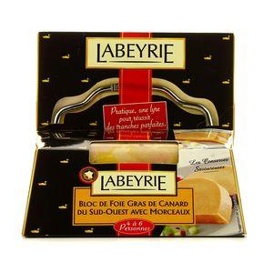 Labeyrie foie gras de canard 30% morceaux 195g + lyre offerte