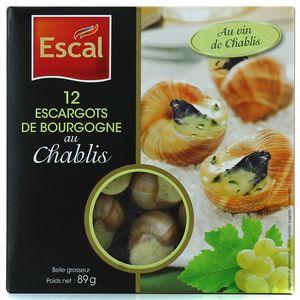 12 Escargots de Bourgogne au vin de chablis,ESCAL,89g