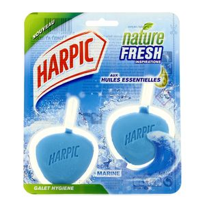 Harpic Blocs WC Nature Fresh aux huiles essentielles - Parfum Marine