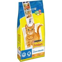 Friskies Croquette pour chats stérilisés - A la dinde et aux légumes