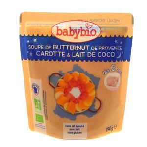 Babybio Soupe Buternut de Provence Carotte & Lait de Coco