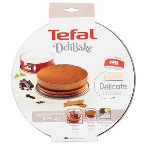 Tefal Moule à Charnière Delibake - Acier Rouge Carbone