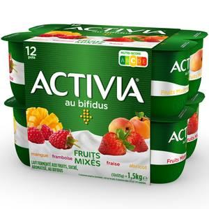 Activia Fruits mixés panachés