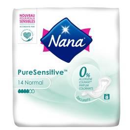 Nana Serviettes hygiénique normal - Pure Sensitive 0%