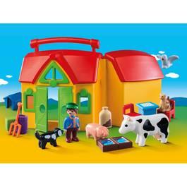 PLAYMOBIL® 1.2.3 Ferme transportable avec animaux