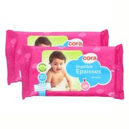 Cora Lingettes épaisses à l'extrait d'aloe vera