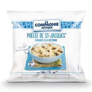 La Compagnie Artique Poêlée de Saint Jacques cuisinées à la Bretonne à la crème et champignons