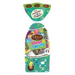 Cémoi Mega t'Oeufs chocolat au lait et pralinés