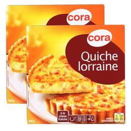 Cora 2 Quiches Lorraine aux oeufs frais et à la crème fraiche