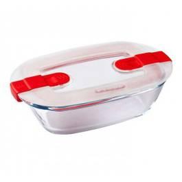 Pyrex Cook & Heat Plat en verre rectangulaire avec couvercle spécial micro-ondes