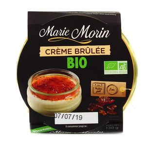 Marie Morin Crème brulée bio
