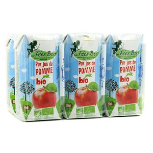 Les Fées Bio Pur jus de Pomme BIO