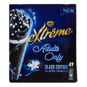 Extrême 4 Cônes glacés Adult Only Vanille Black Edition 4x100ml