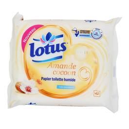 lotus papier toilette humide amande cocoon 42 lingettes. Black Bedroom Furniture Sets. Home Design Ideas