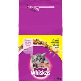 Whiskas Croquettes au poulet pour chatons de 2 à 12 mois