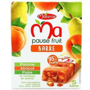Ma pause fruit barre pomme poire abricot 5x20g