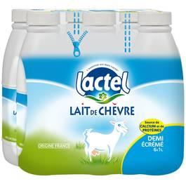 Lactel Lait de chèvre 1/2 écrémé
