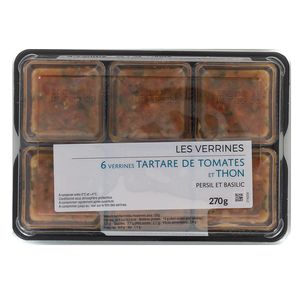 Mix Buffet Verrine tartare de  tomates & thon