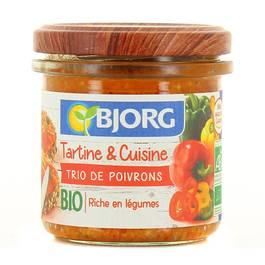 Bjorg Tartine & cuisine trio de poivrons Bio