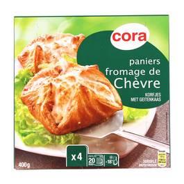 Cora 4 Paniers feuilletés au fromage de chèvre 4x100g