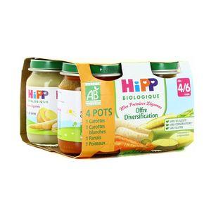 Hipp Offre diversification Mes Premiers Légumes bio dès 4/6 mois