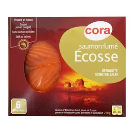 Cora Saumon fumé d'Ecosse, 210g
