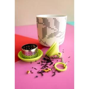 Dotz Infuseur à thé en inox et silicone Vert