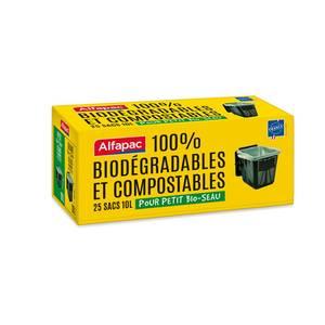 Alfapac Sacs poubelle 10L 100% biodégradables