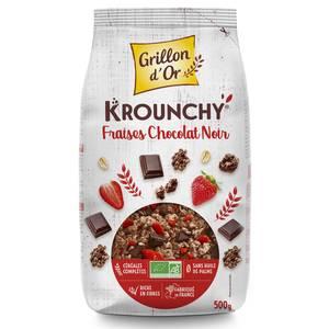 Grillon Or Mes krounchy fraise chocolat noir bio