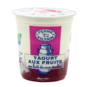 Ferme de Viltain Yaourt bicouche fraise
