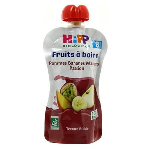 Hipp Gourde Pommes Bananes Mangue passion