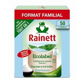 Tablettes tout en 1 bicarbonate , 50 tablettes,RAINETT,