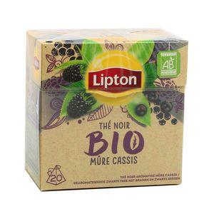 Lipton Thé noir bio mûre cassis