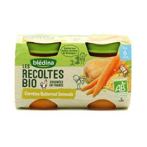 Blédina Les récoltes Bio Carottes Butternut Semoule, dès 6 mois