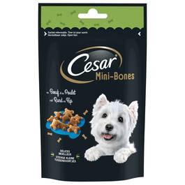 César Mini-Bones Récompenses au boeuf et au poulet pour chien