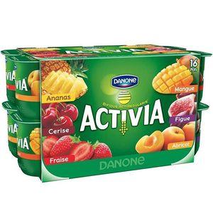 Activia yaourt bifidus aux fruits panache 16 x 125g
