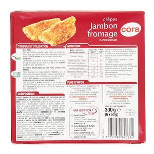 Cora 6 Crêpes jambon fromage 6x50g