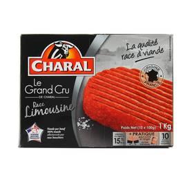 Charal 10 Steaks hachés le Grand Cru- Race Limousine 15%MG