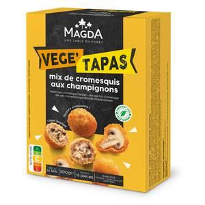 Magda Vege'tapas- Mix de Cromesquis aux champignons- 15 pièces environ