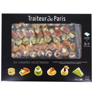 Traiteur de Paris 54 canapés végétariens- 6 recettes tendances et panachées