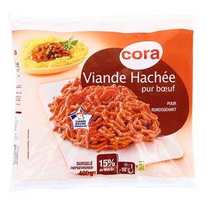 Cora Viande hachée pur boeuf 15% MG prête à cuisiner
