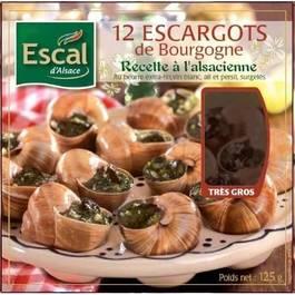 12 Escargots de Bourgogne (trés gros),ESCAL,125g