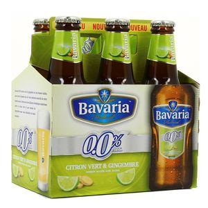 Bavaria Bière blanche citron vert & gingembre 0.00°