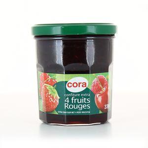 Cora Confiture aux 4 fruits rouges