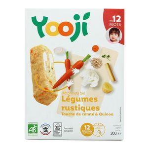 Yooji Mes petits Bâtonnets Bio- Légumes rustiques et touche de Comté dès 12 mois