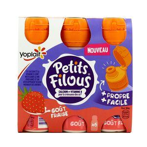 Yoplait Petits Filous Gourdes aromatisées fraise