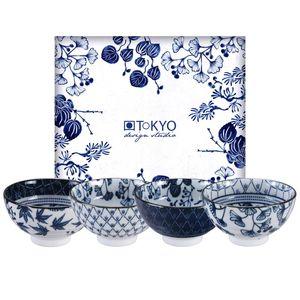Tokyo Design Studio Coffret de 4 bols Flora japonica 16700