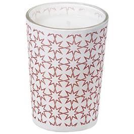 Devineau Contenant papier conique motif étoiles sérigraphie rose non parfumé