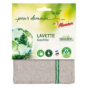 Ménatex - Pour demain Lavette gauffrée 100% recyclée et recyclable